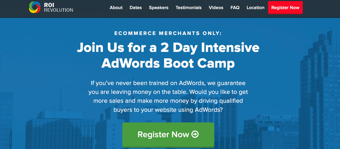 ROI Revolution AdWords Bootcamp